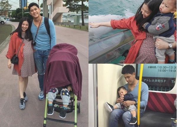 ทริปสุขสันต์!! กาย กระเตงลูกเมียตะลุยเที่ยวญี่ปุ่น 3 คน พ่อแม่ลูก