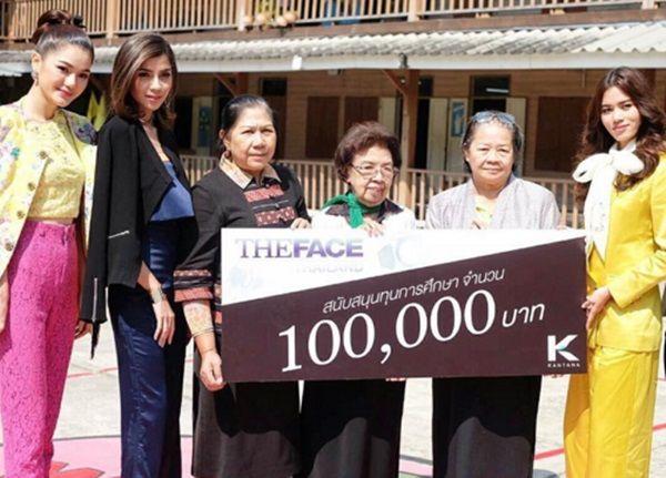 สามสาว The Face Thailand Season 2 ไม่ได้มาเล่นๆ จูงมือกันนำเงินมอบทุนการศึกษา โรงเรียนวรรณวิทย์