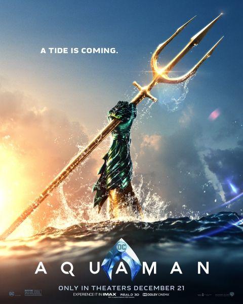"""""""Aquaman"""" ปล่อยคลิปพร้อมโปสเตอร์ล่าสุด มาดูกันชัด ๆ อาวุธคู่กายอันทรงพลังของอควาแมน"""