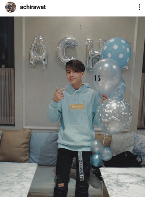 น้องอชิในวันเกิดปีที่แล้ว