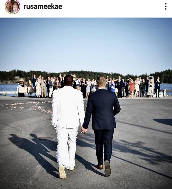 รัศมีแข จูงมือแฟนหนุ่มในวันแต่งงาน