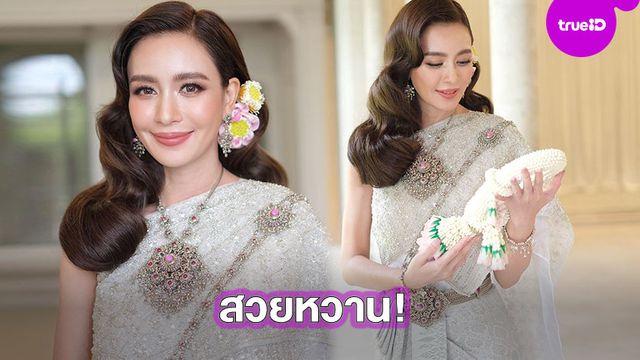 งามอย่างไทย!! เบนซ์ ปุณยาพร ใส่ชุดไทยสุดสง่า สวยคมสมความเป็นกุลสตรี