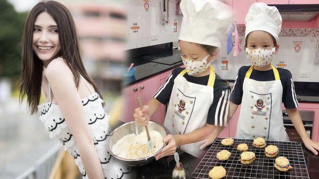ซาร่า ปลื้ม น้องแม็กซ์เวลล์ ฉายแววเชฟ โชว์ฝีมือทำอาหารให้กิน  แม่พร้อมสนับสนุน