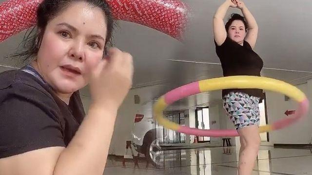 ฮาย อาภาพร ออกกำลังกายหนัก ฮูล่าฮูป 10 โล ไม่ผอมให้รู้ไป