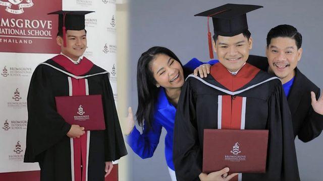 ตั๊ก ศิริพร - นุ้ย เชิญยิ้ม สุดภูมิใจ น้องภู จบไฮสคูล ขั้นต่อไปเตรียมเข้ามหาวิทยาลัย