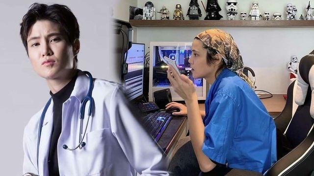 หมอเจี๊ยบ สละห้องเล่นเกมส์ เป็นห้องตรวจคนไข้ทางไกล เพื่อคุยกับผู้ป่วย