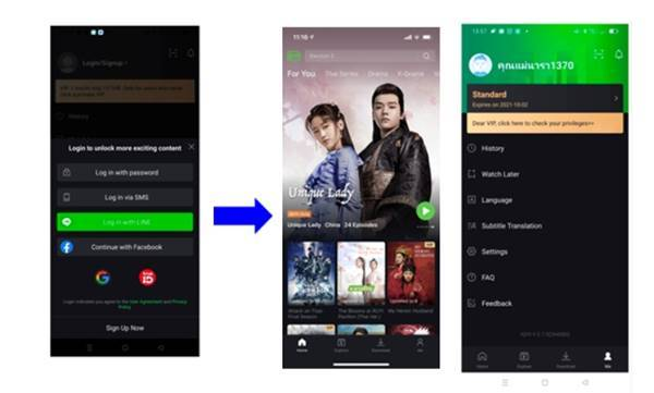 ขั้นตอนการสมัครแพ็กเกจ iQiyi บนระบบ TrueID App