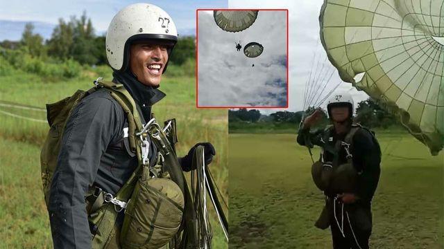 อย่างโหด! สงกรานต์ โพสต์คลิป โชว์สกิลกระโดดร่ม ท่าลงพื้น เท่ระเบิด (มีคลิป)