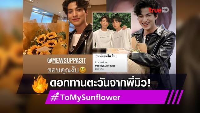 ครบ 1 ปีพอดี! แฟน ๆ ติดแฮชแท็ก #ToMySunflower แชร์โมเมนต์ดี ๆ เรื่องดอกทานตะวันที่ มิว ให้ กลัฟ
