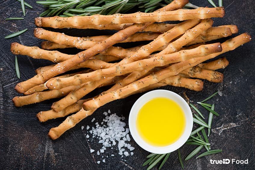 ขนมปังขาไก่ Breadsticks ขนมปัง