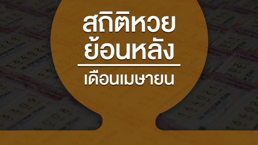 สถิติหวยออกเดือนเมษายน ย้อนหลัง 29 ปี สถิติสลากกินแบ่งรัฐบาล