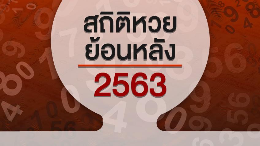 สถิติหวยออกปี 2563 ตารางหวยปี 63 สลากกินแบ่งรัฐบาลย้อนหลังและงวดล่าสุด