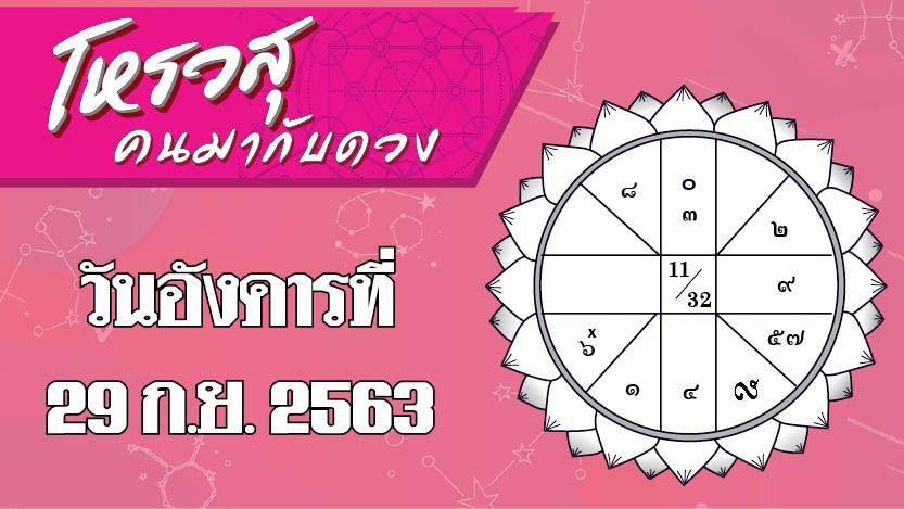คอลัมน์ โหรวสุ : ดวงประจำวันอังคารที่ 29 กันยายน 2563