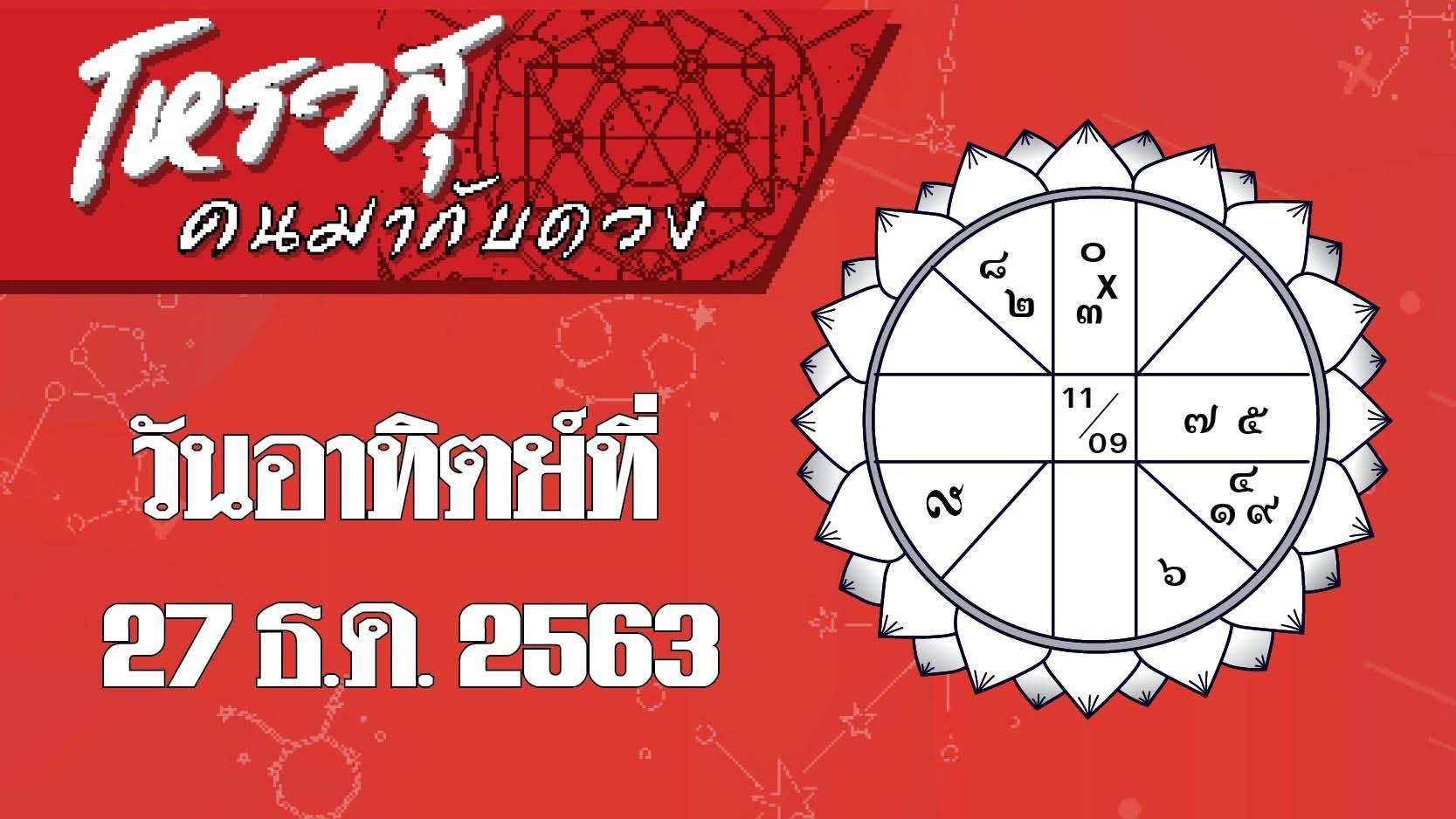 ดวงวันอาทิตย์ที่ 27 ธันวาคม 2563 ราศีใดจะได้ผู้ใหญ่อุปถัมภ์ ราศีใดจะได้โชคลาภจากการทำบุญ