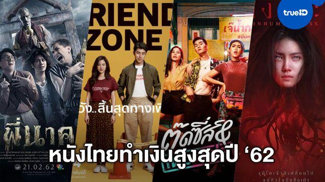 """เช็กตารางบ็อกซ์ออฟฟิศ 10 อันดับ """"หนังไทย"""" รายได้สูงสุดในปี 2562"""