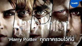 """มักเกิลต้องไม่พลาด """"Harry Potter"""" 7 ภาค 8 เรื่อง ครบทุกตอน กลับมาให้ได้ชมที่ TrueID"""
