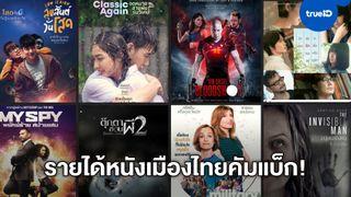 บ็อกซ์ออฟฟิศคัมแบ็ก! เช็กรายได้หนังทำเงินเมืองไทย ประเดิมเปิดโรงหนังวันแรก