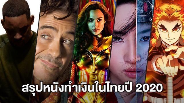 สรุปรายได้หนังต่างประเทศที่ทำเงินสูงสุดในประเทศไทย ประจำปี 2020