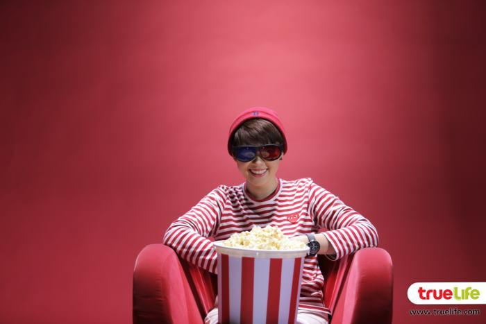 แบมแบม นั่งดูหนัง