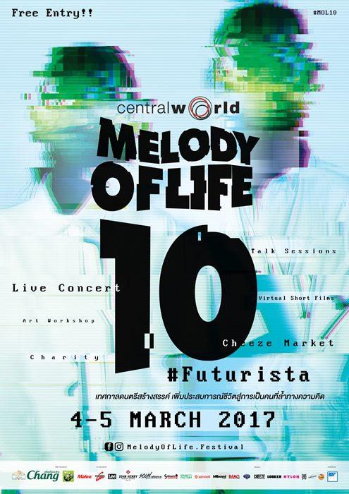 เตรียมตัวให้พร้อม! MELODY OF LIFE 10 #FUTURISTA เทศกาลดนตรีสร้างสรรค์