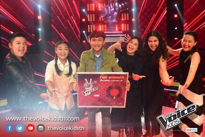 แน็ท ศิริพงษ์ ชนะใจคนไทย คว้าตำแหน่ง แชมป์ The Voice Kids คนที่ 5 ไปครอง!