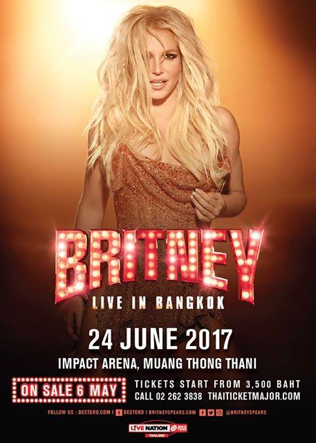 ฝันเป็นจริง! Britney Spears LIVE IN BANGKOK 2017 ทัวร์คอนเสิร์ตครั้งแรกในประเทศไทย!