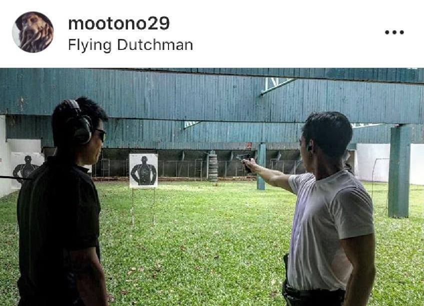 หล่อโหดดุ! โตโน่ ฝึกยิงปืนจริงจัง ทุกท่วงท่าอย่างกับมืออาชีพ (มีคลิป)