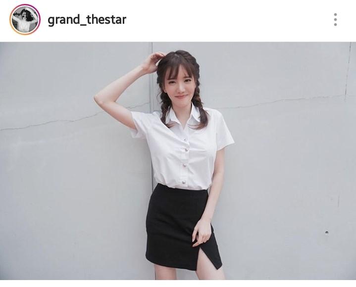แบ๊วแล้วรักป่ะล่ะ? แกรนด์ เดอะสตาร์ ในลุคสาวแว่น แก่นแก้ว น่ารักจัง!