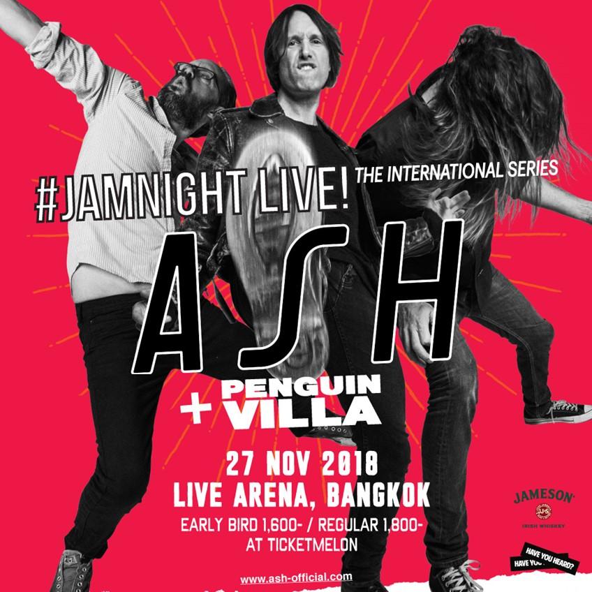 เตรียมตัวให้พร้อม! JAMnight Live! with Ash วงดนตรีชาวไอริช ผู้ปลุกเสน่ห์กีตาร์เสียงแตกอันเย้ายวน!