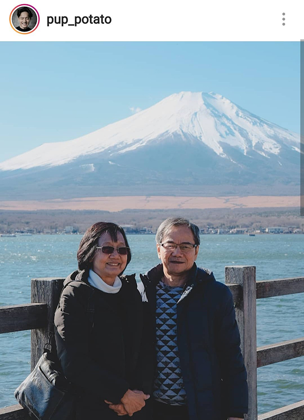 แม่ครับผมหยอกเล่น! ปั๊บ โปเตโต้ พาพ่อแม่ตะลุยญี่ปุ่น แซวผ่านไอจี แม่ครับผมทรงอะไร