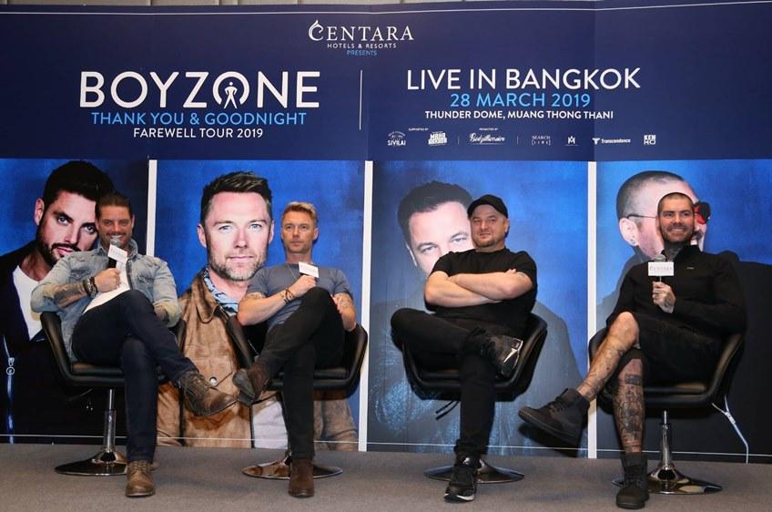 วง BOYZONE ถึงไทย จัดแถลงข่าว ก่อนคอนเสิร์ตใหญ่ปิดตำนานบอยแบนด์ คืนนี้!