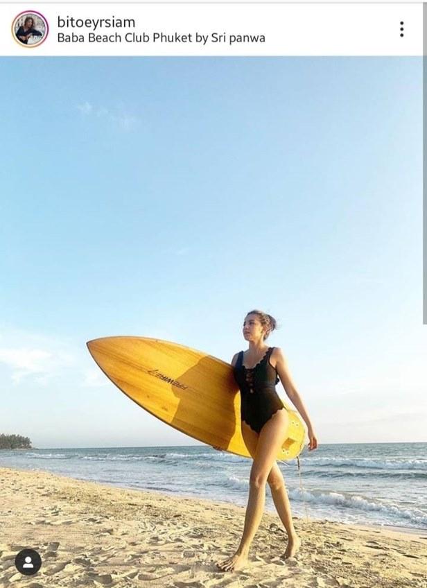 ออกลายมาเลย! ใบเตย อาร์สยาม ใส่ชุดว่ายน้ำสีเนื้อบักแตงโม บิกินี่ลายเสือ สุดสยิว