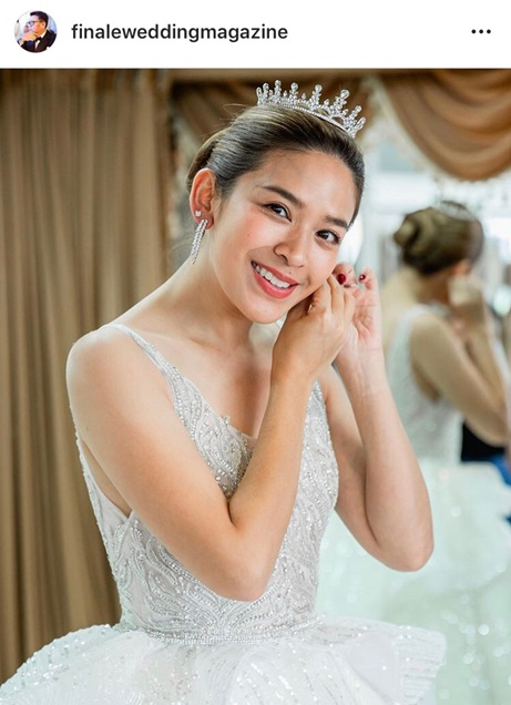 เริ่มแล้ว!! น้ำหวาน-กวาง จูงมือลองชุดแต่งงาน สวยหล่อออร่าจับ