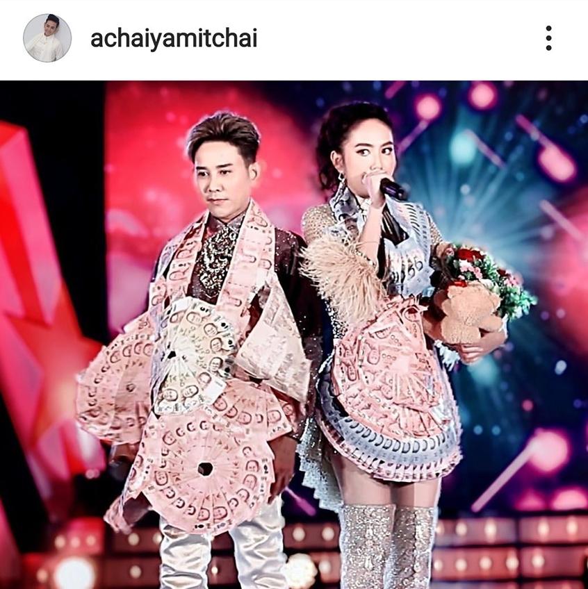 นึกว่าแฝด! เอ ไชยา ถ่ายรูปชุดลิเกคู่ แป้ง พรภัสร์ชนก สำเนาถูกต้องพ่อลูกหวานคู่เลย