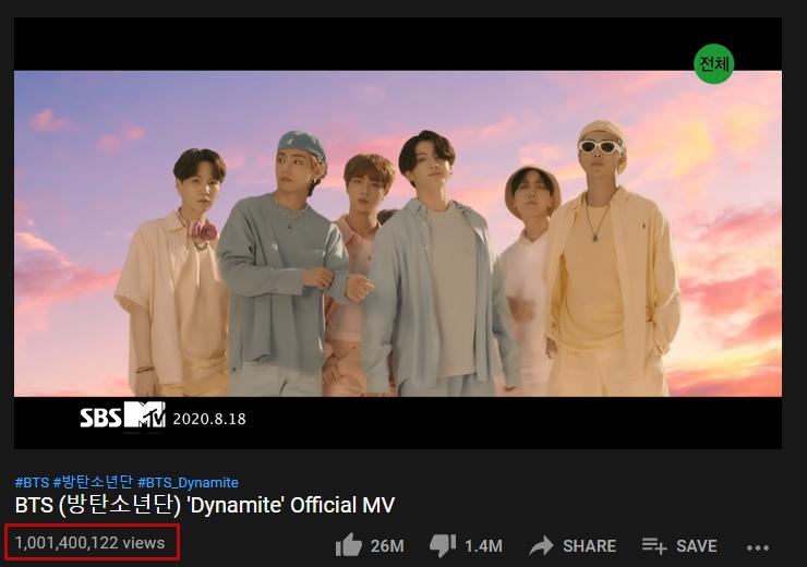 ที่สุดแห่งยุค! MV Dynamite ของ BTS ยอดวิวทะลุ พันล้านวิว #DynamiteTo1B
