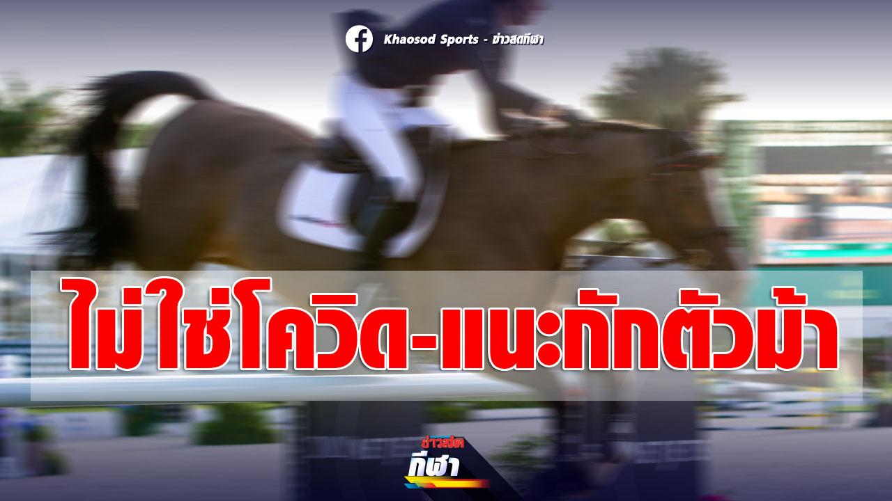 ปศุสัตว์ ยันโรคคร่าชีวิตม้าไม่ใช่ โควิด ไม่ติดคน- ส.กีฬาขี่ม้าแนะกักตัวม้าแข่ง