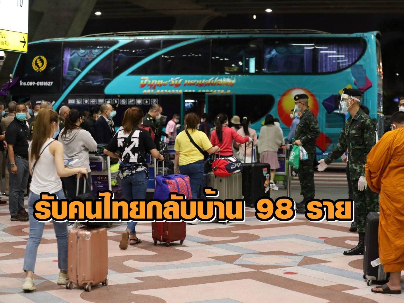 ศปม.รับ คนไทยกลับจากตปท. 98 คน กักตัวย่านพระรามเก้า ทุกคนให้ความร่วมมือดี
