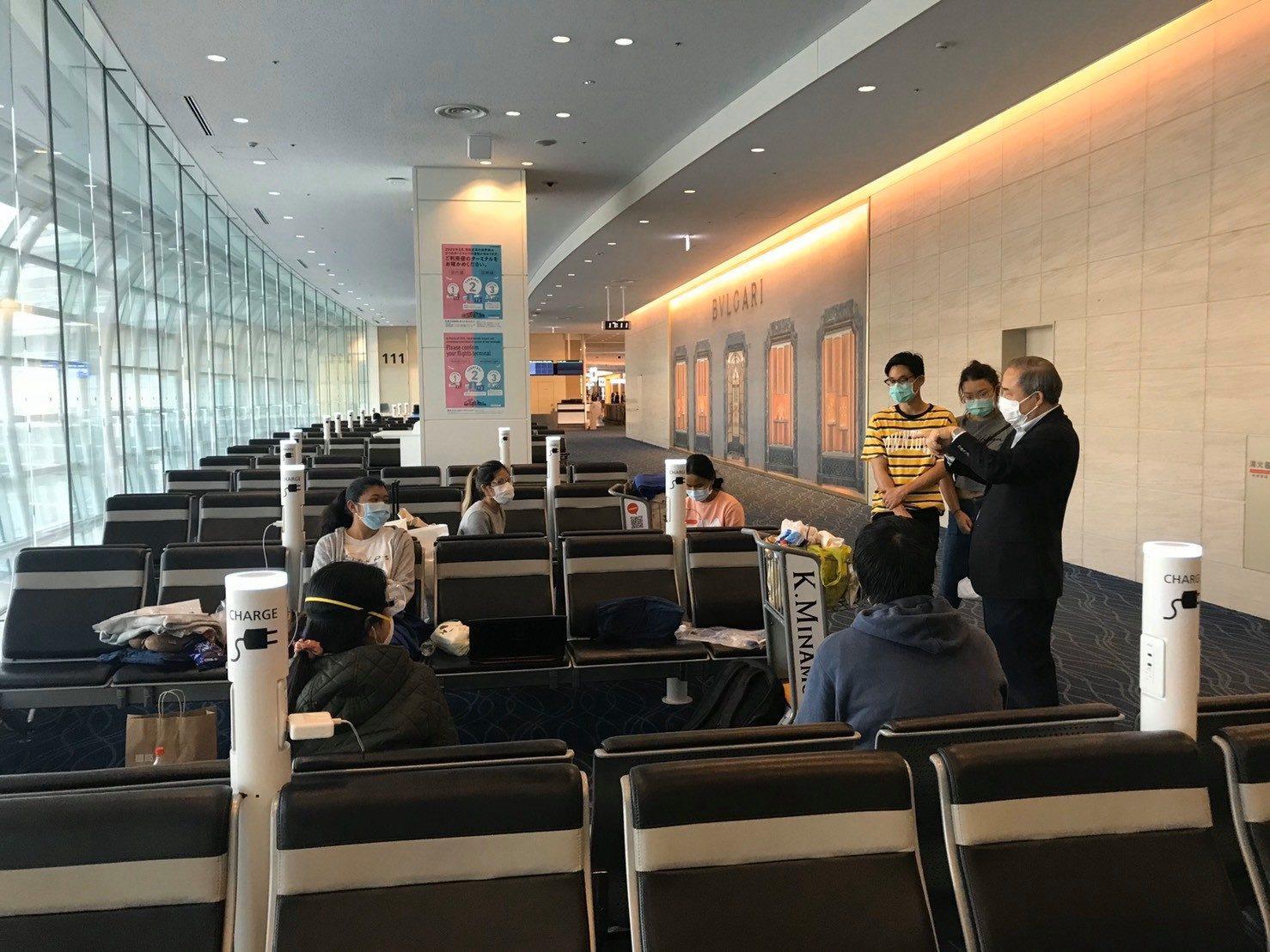 สถานเอกอัครราชทูต ณ กรุงโตเกียวดูแลคนไทยที่ตกค้างที่สนามบิน