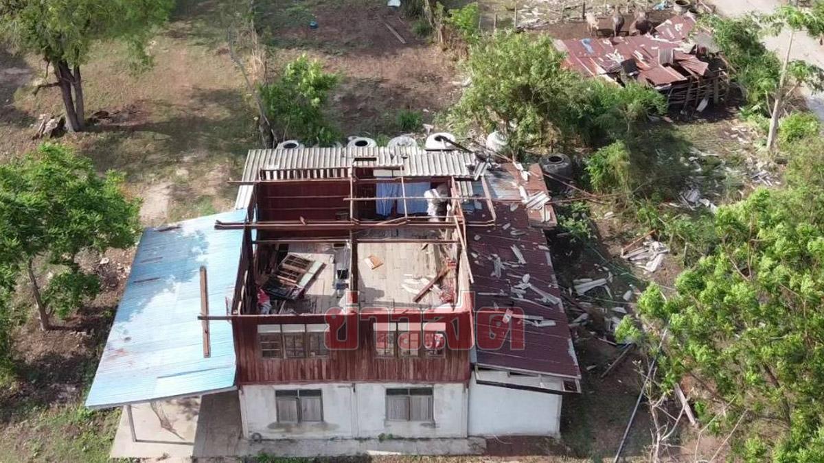 พายุถล่ม อ.บัวใหญ่รับสงกรานต์ วูบเดียวบ้านพินาศ หนีตายเหมือนในหนัง