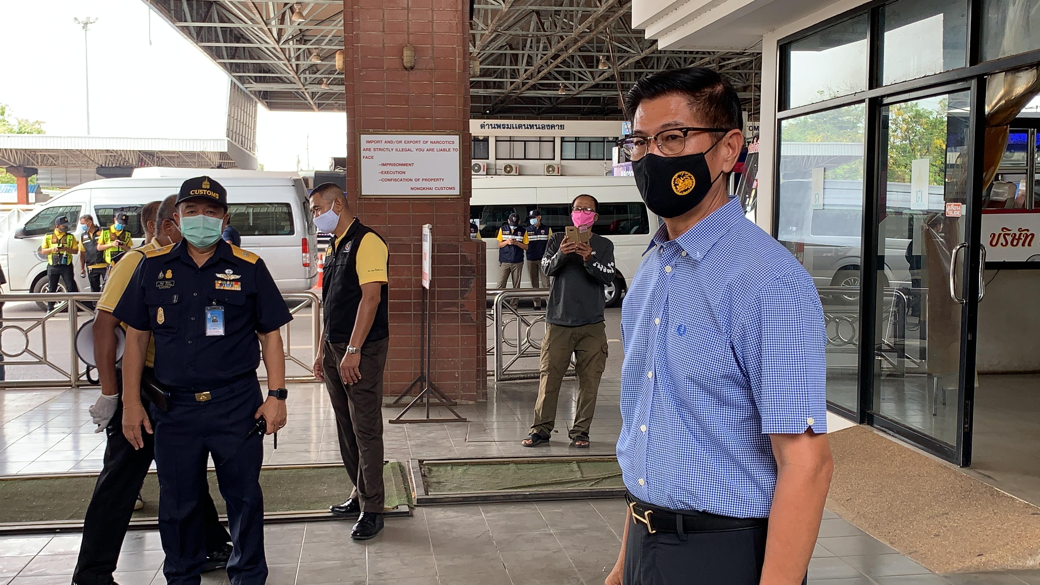หนองคาย รับคนไทยที่ตกค้างในลาวกลับประเทศวันแรก