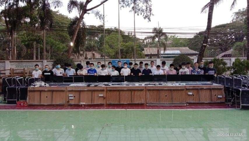 เจ้าหน้าที่พม่าตรงข้ามแม่สอดล้อมโรงแรมดังจับชาวจีน 30 คน เปิดบ่อนในโรงแรม