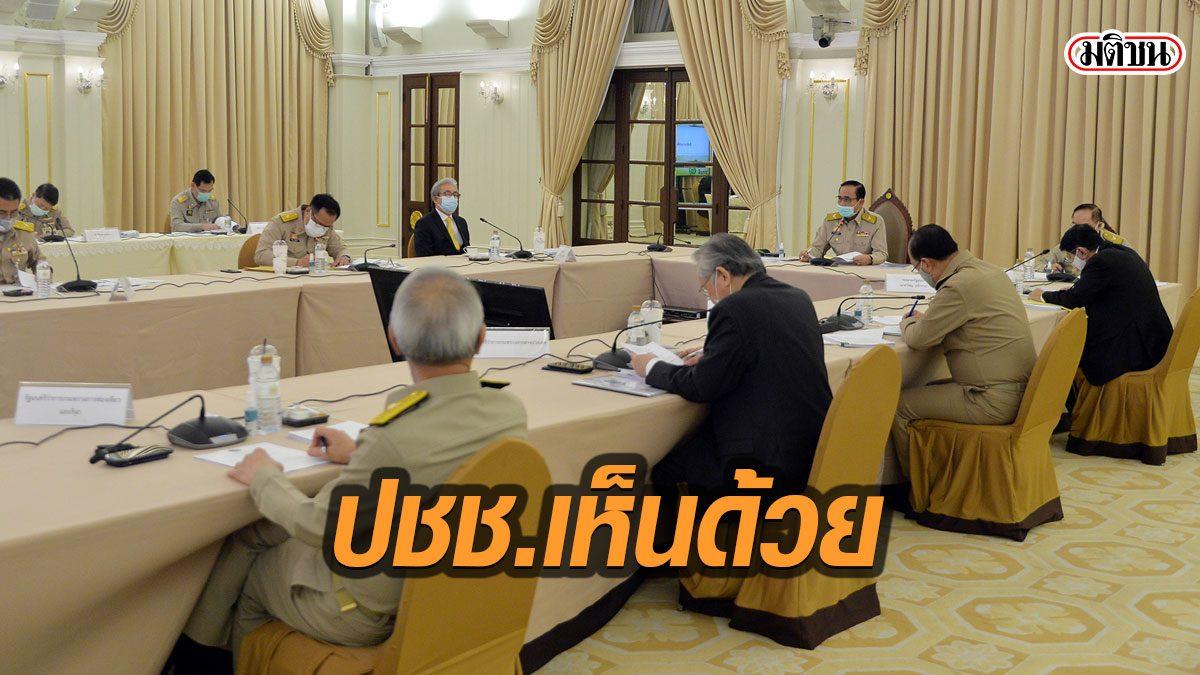 สมช.เผย คนไทยส่วนใหญ่เห็นด้วย พ.ร.ก.ฉุกเฉิน ชง ครม.เคาะเคอร์ฟิวต่อ