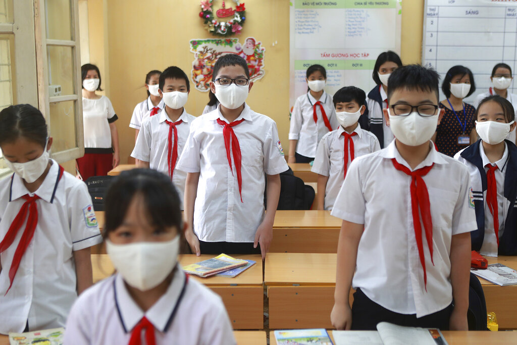 เวียดนามเปิดเรียนแล้ว สู้โควิดไร้ยอดตาย เด็กๆ ดีใจ แบ็กทูสคูล