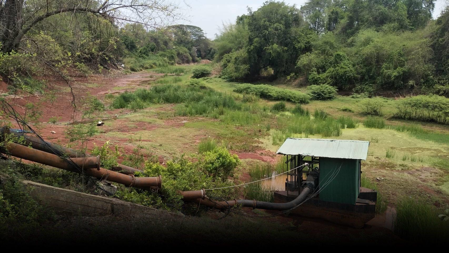 โคราช ช้ำอีก พายุฤดูร้อนไม่ช่วยเติมน้ำ ล่าสุดแม่น้ำชีแห้งขอด เหลือไม่ถึง 20%
