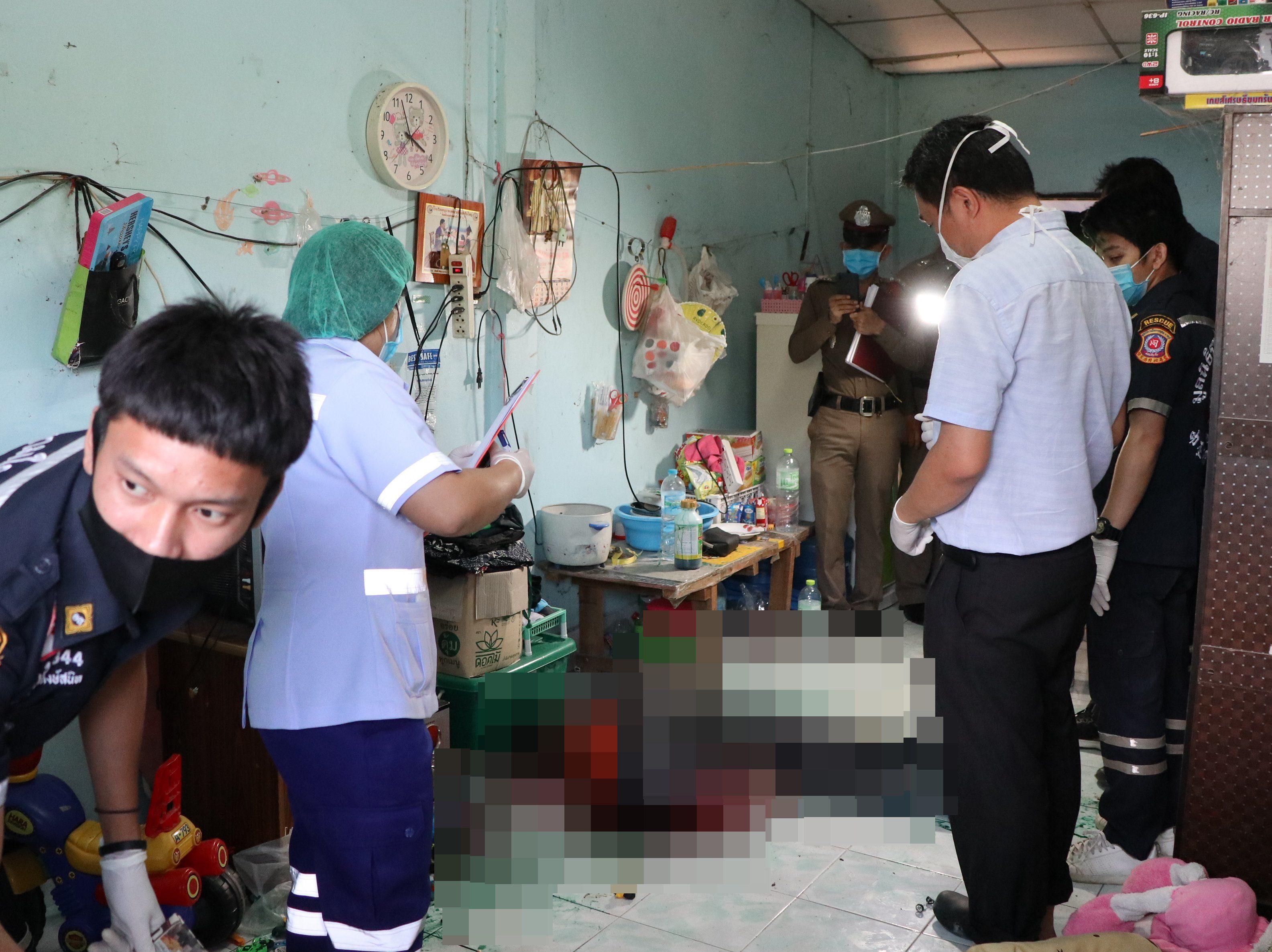 รวบผัวหึงโหด กระหน่ำแทงเมียดับสยอง คาห้องเช่า ก่อนกินยาหวังฆ่าตัวตายหนีผิด