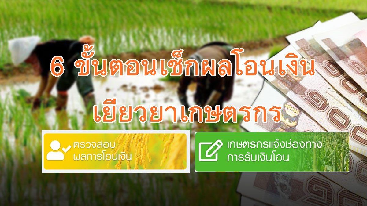 เปิด6 ขั้นตอนเช็กผลโอนเงิน เยียวยาเกษตรกร 5,000 บาท