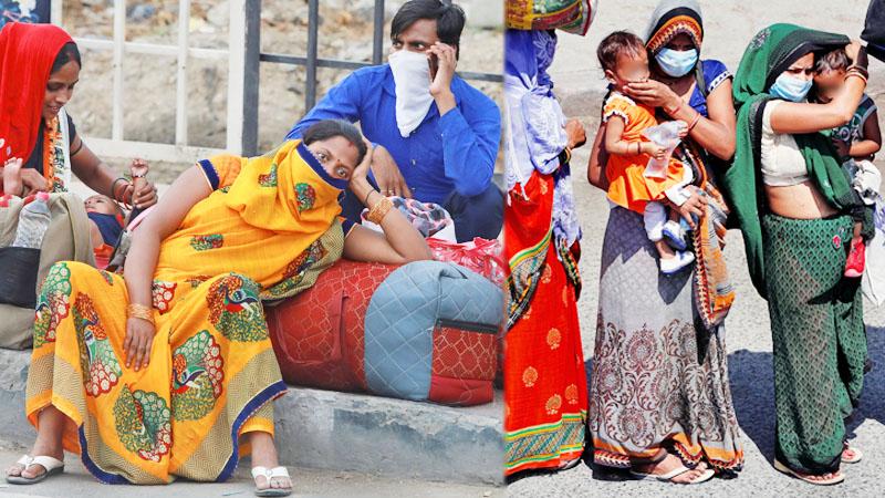 """โควิด: สาวอินเดียคลอดลูกข้างทาง ระหว่าง """"เดินเท้า"""" กลับภูมิลำเนา พักแค่ 2 ชั่วโมง-กัดฟันเดินอีก 4 วันถึงบ้าน"""
