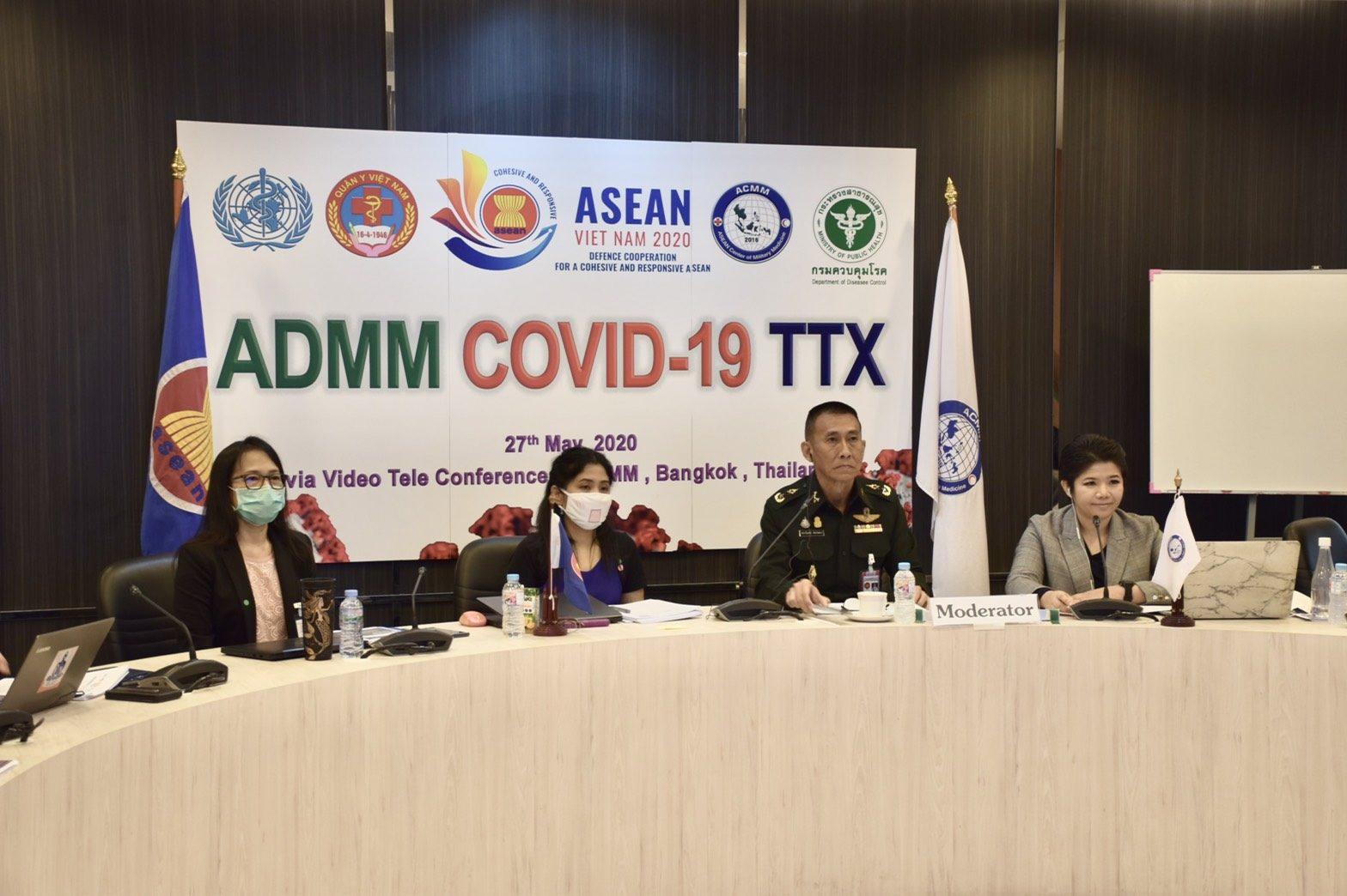'ศูนย์แพทย์ทหารอาเซียน' จัดประชุมป้องกันโควิด-19
