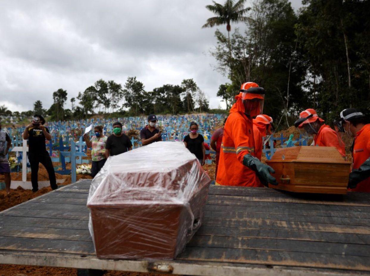 บราซิลติดโควิดทะลุ 4 แสน ทั่วโลกพุ่ง 5.7 ล้าน ตาย 3.56 แสน