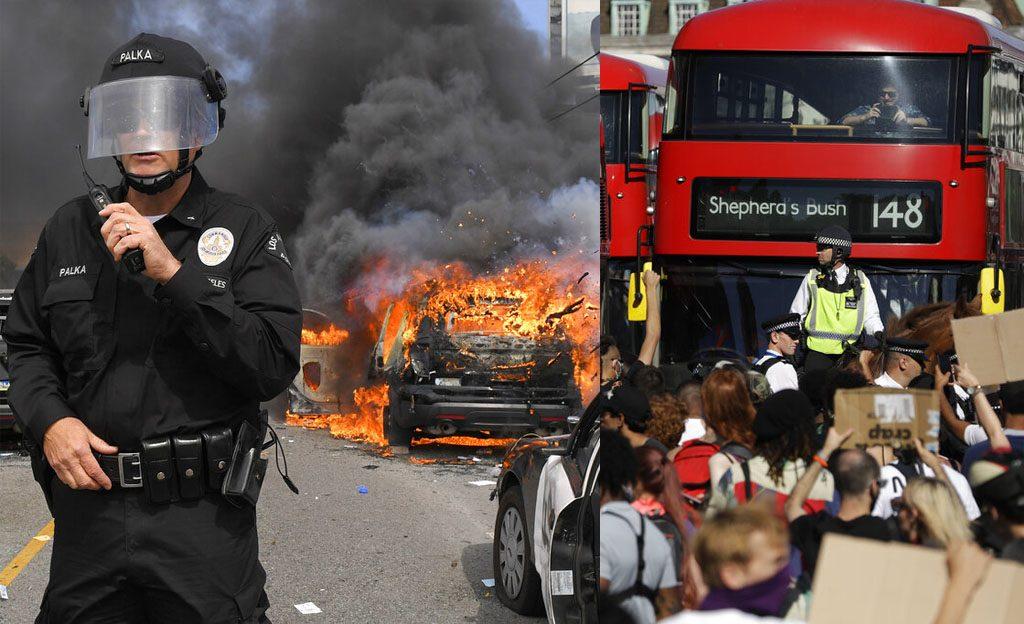ประท้วงลามถึงลอนดอน ไฟแค้นตร.ฆ่าผิวดำยังโหมม็อบสหรัฐ